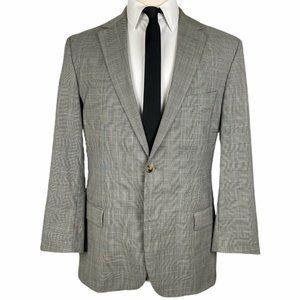 HUGO BOSS Suits & Blazers - Hugo Boss Sport Coat 42L Gray Glen Plaid 2 Btn